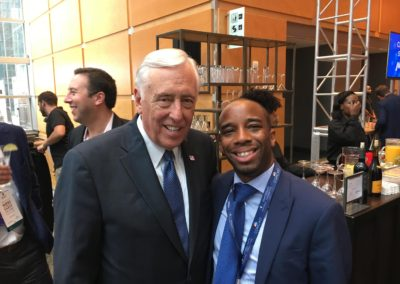 Congressman Steny Hoyer and Chris Prudhome enjoying some down time