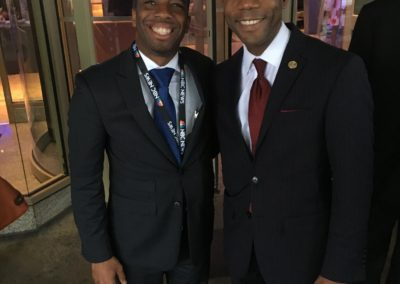 NAACP President Cornell Brooks and Chris Prudhome at the DNC